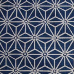Tissu japonais motif asanoha bleu marine