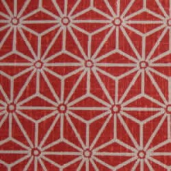 tissu japonais motif asanoha rouge