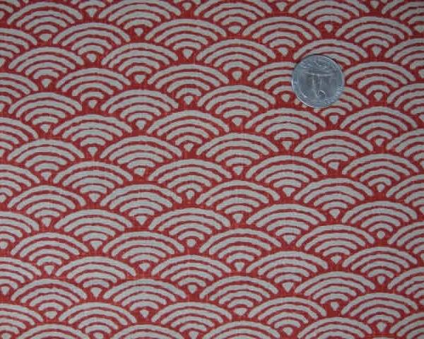motif palmier seigaiha rouge 20 cm la rabichette. Black Bedroom Furniture Sets. Home Design Ideas