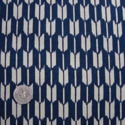 motif flèches fond bleu marine