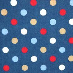 tissus pois bleus
