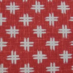 motif croix fond rouge