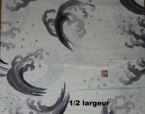 vagues grises fond blanc