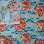 tissu boules Temari Japonaises sur motif vagues  La Rabichette