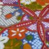 tissu japonais rouge