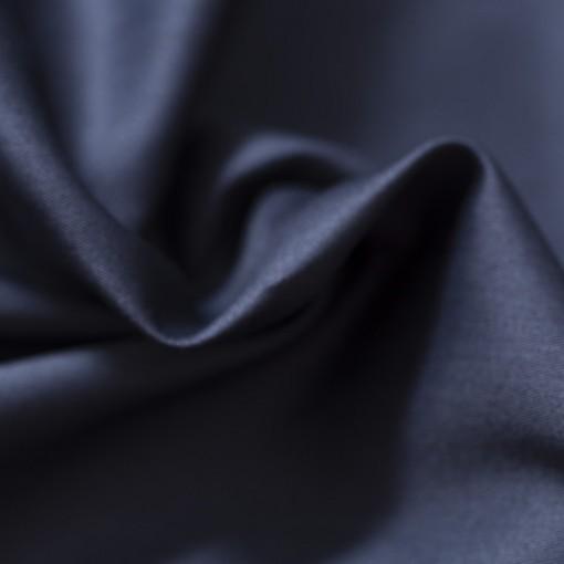 satin coton bleu marine