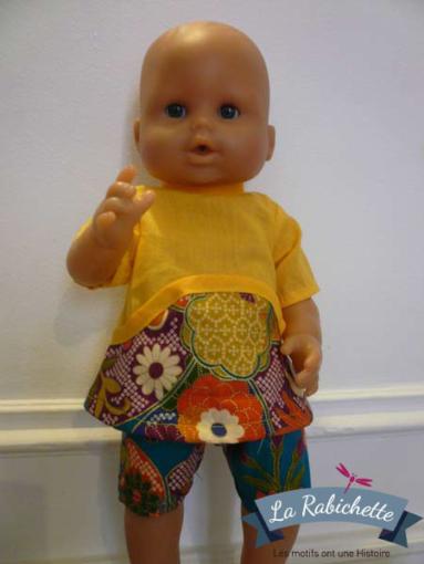 poupée en mini Louisa jaune