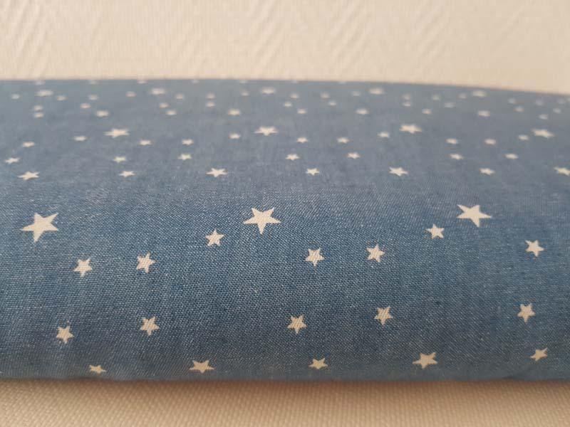 tissu etoile bleu