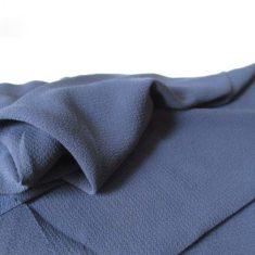 tissu crêpe bleu