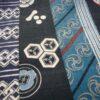 tissu japonais bandes bleues