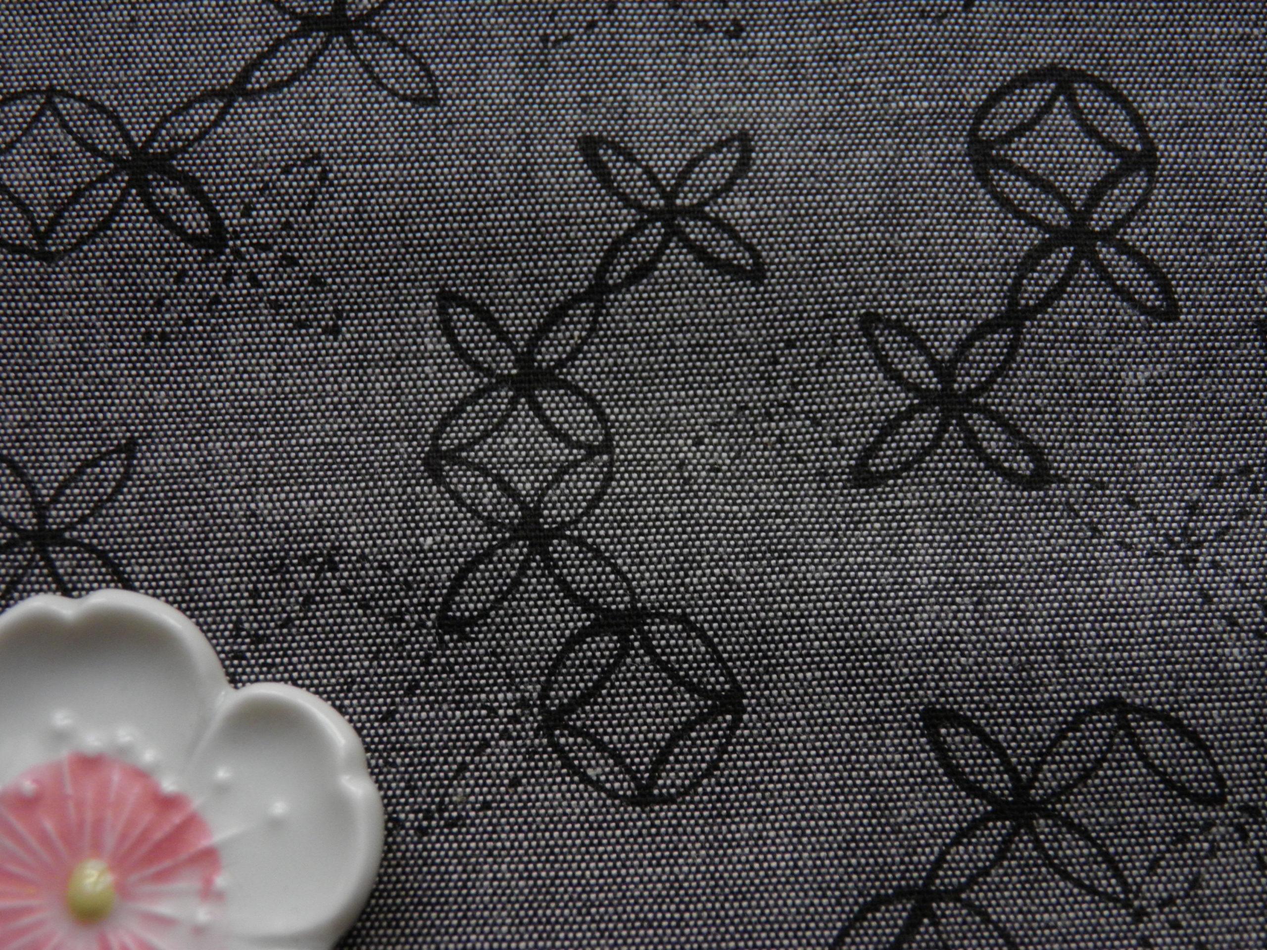 tissu japonais shippo gris