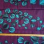 wax violet fleurs turquoises la rabichette
