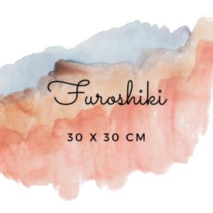 Furoshikis carrés 30 x 30 cm