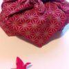 furoshiki asanoha rouge