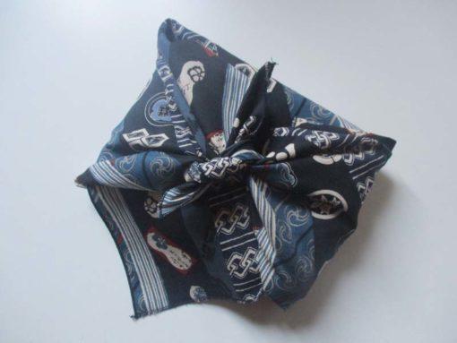 furoshiki bandes bleues