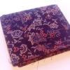coupon tissu japonais fleuri marron