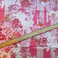 coupon tissu japonais rose