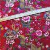 coupon tissu japonais rouge