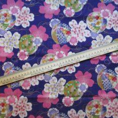 coupon tissu japonais violet temari