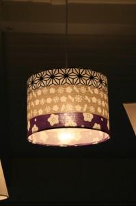 lampe bandes violettes